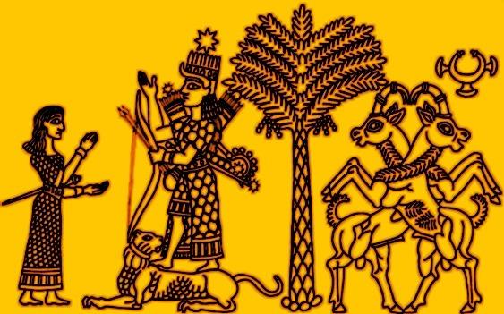 inanna-chevauchant-un-lion-arbre-de-vie