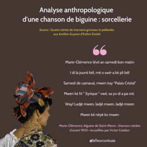 Analyse anthropologique d'une chanson de biguine _ sorcellerie